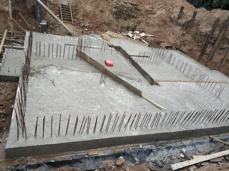 Заливка фундамента Малого Храма