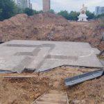 Заливка фундамента Малого Храма в Отрадном