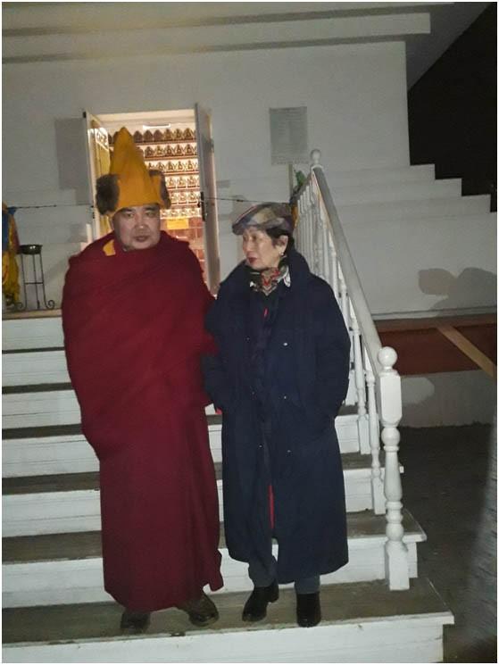 Дашинима-лама и Дулма Шагдаровна после завершения обряда ритуала очищения